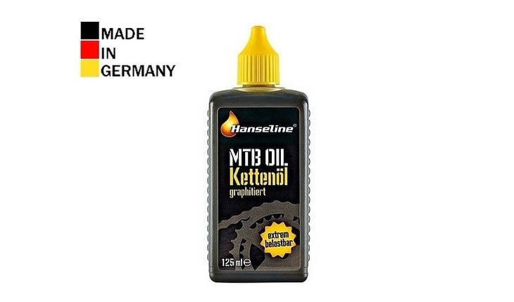 Смазка для цепи HANSELINE MTB-OIL графитная 125ml, фото 2