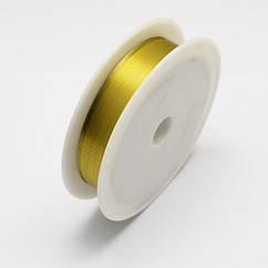 Проволока Железная Monisto 0.3мм Цвет: Золото около 20м/катушка