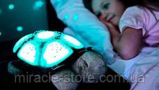 Ночник проектор черепаха Turtle Night Sky с USB кабелем светильник оранжевый, фото 2