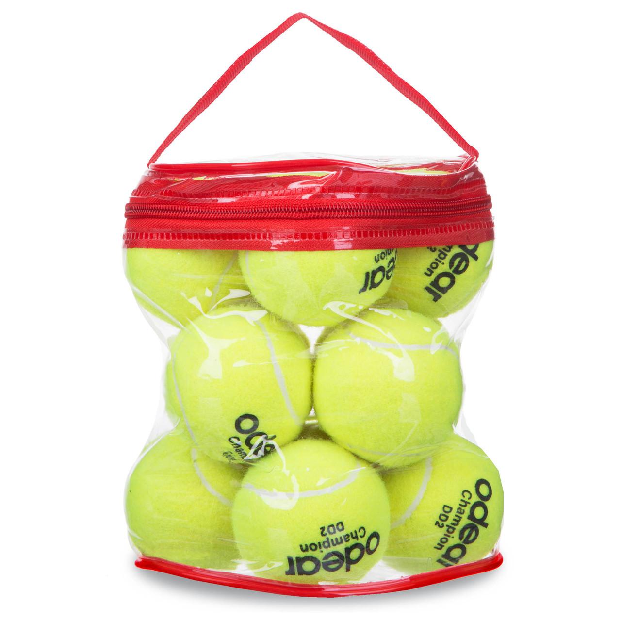 Мяч для большого тенниса (12шт) ODEAR SILVER BT-1780