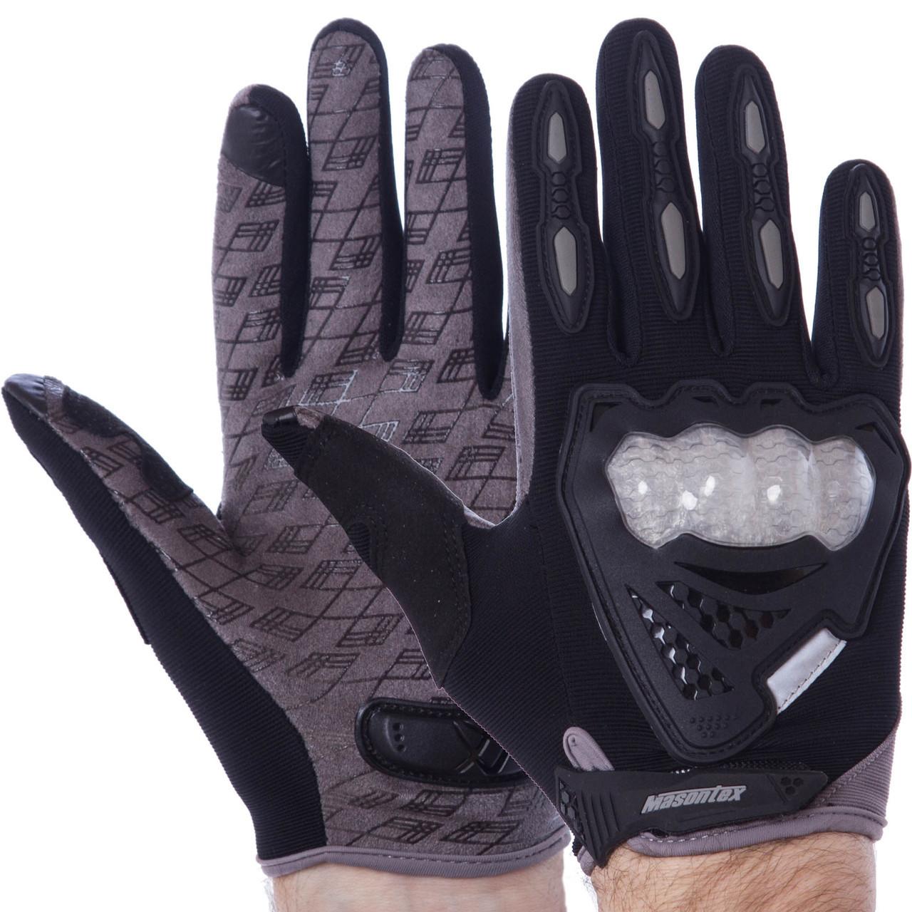 Мотоперчатки черно-серые CMHTO-035