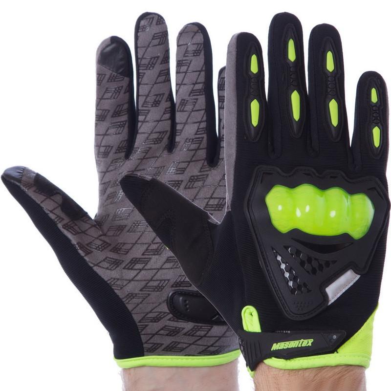 Мотоперчатки черно-салатовые CMHTO-035