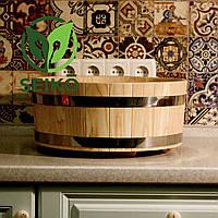 Хангири (діжка для приготування рису) з ясена Seikō™, 40 літрів, діаметр 72 см, фото 1