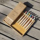 Набор бамбуковых зубных щеток 10 штук Разноцветный (hub_croq90245), фото 3