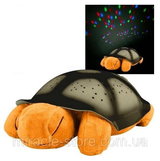 Ночник проектор черепаха Turtle Night Sky с USB кабелем светильник оранжевый