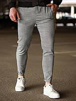 Мужские стильные брюки/штаны на весну/осень в клетку, фото 1