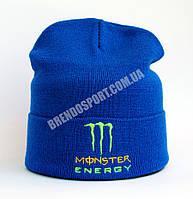 Шапка Monster Energy синий электрик