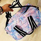 Сумка Спортивная Victoria's Secret PINK Sport Quilted Duffle Gym Bag, Голубая, фото 4