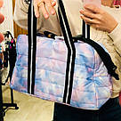 Сумка Спортивная Victoria's Secret PINK Sport Quilted Duffle Gym Bag, Голубая, фото 3