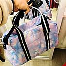 Сумка Спортивная Victoria's Secret PINK Sport Quilted Duffle Gym Bag, Голубая, фото 5