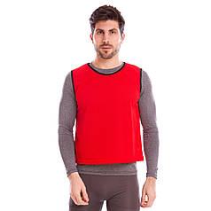 Манишка для футбола мужская цельная (сетка) (PL, 62х56,5см) Красный PZ-CO-3946_1
