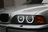 "BMW 5 (E39) - замена моно линз Hella D2S на биксеноновые линзы MOONLIGHT G6/Q5 H4 D2S 3,0"" в фарах"