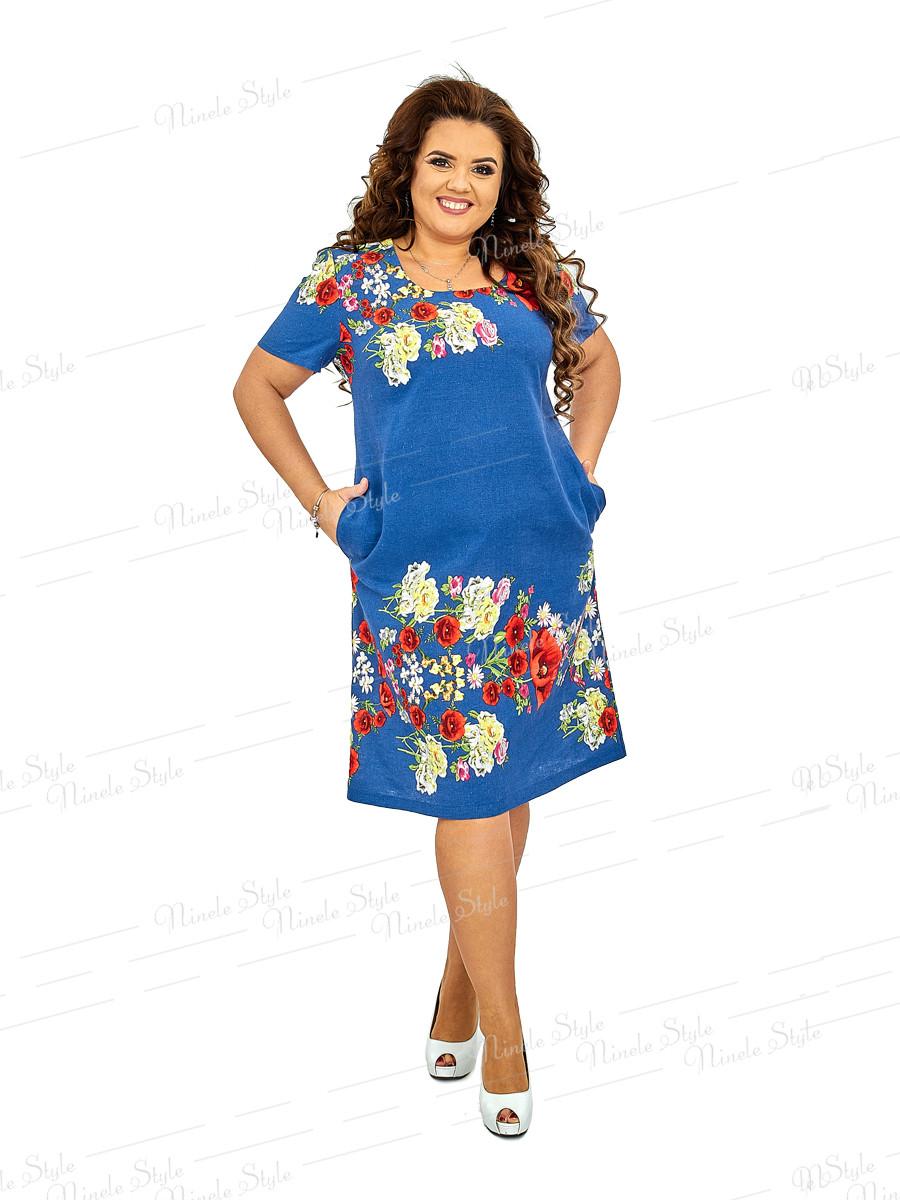 Льняное женское платье  423 54