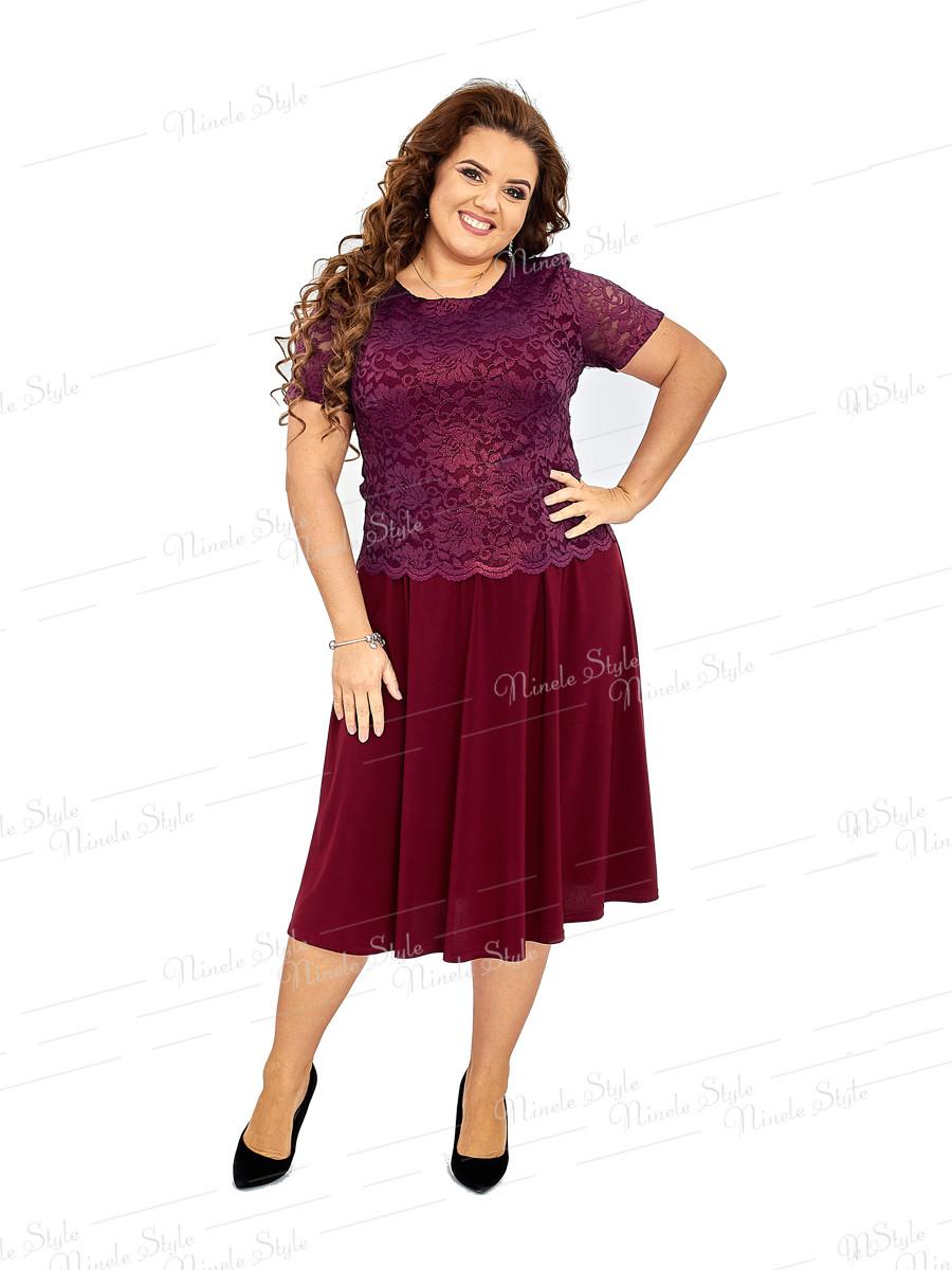 Бордовое женское платье Ninele Style 420-2 54