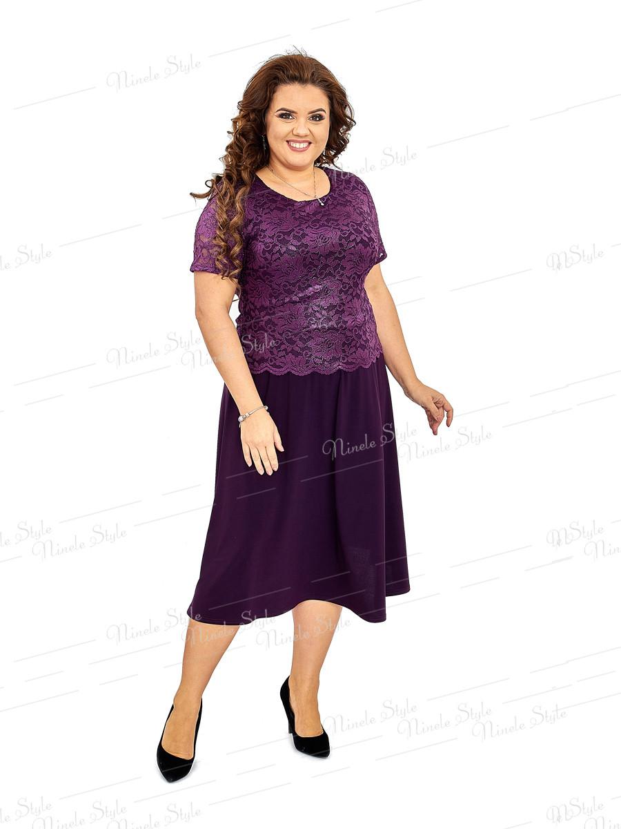Платье женское Ninele Style цвета баклажан 420 54