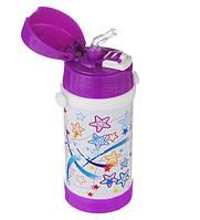 Детский термос с трубочкой А Плюс 1776 320 мл Фиолетовый (AP1106)