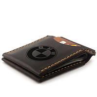Зажим для денег с гравировкой BMW из натуральной кожи Коричневый (as110102-6), фото 1