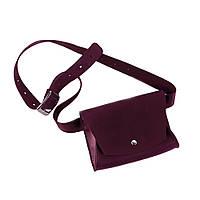 Женская кожаная поясная сумка TheGirl Винный (as180104), фото 1