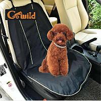 Накидка на переднее сиденье в авто для собак Multibrand черная 108*52см