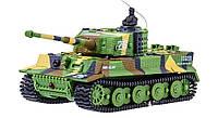 Танк микро Tiger на радиоуправлении, масштаб 1к72 со звуком, хаки зеленый SKL17-139912