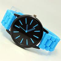 Женские часы Geneva quartz голубые, фото 1