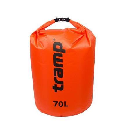 Гермомешок PVC Diamond Rip-Stop 70л Tramp TRA-209-orange, фото 2