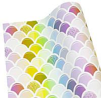 Бумага для упаковки подарков(цветная черепица, 10листов)