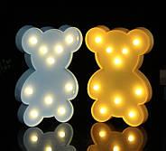 Ночник светильник Мишка желтый, фото 2