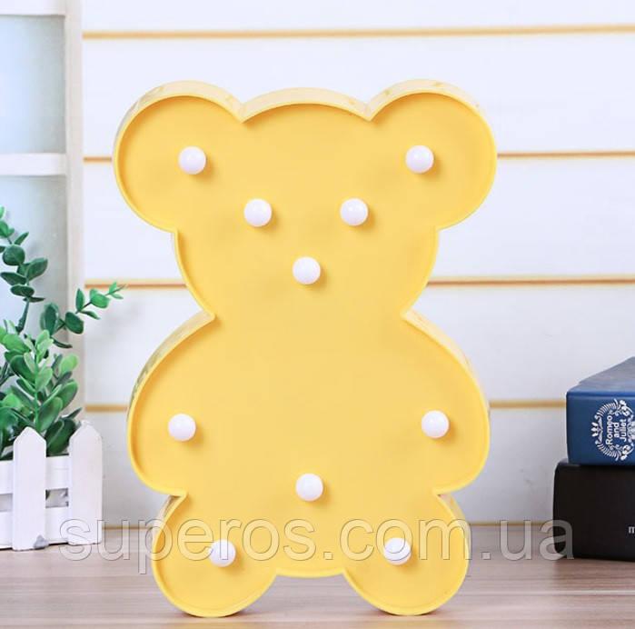 Ночник светильник Мишка желтый
