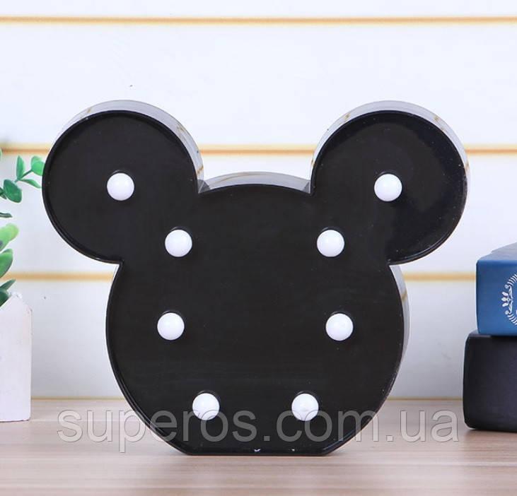 Нічник світильник Mickey Mouse чорний