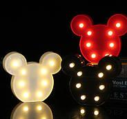 Нічник світильник Mickey Mouse чорний, фото 2