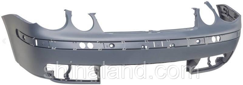 Бампер передній для Vw Polo IV (дорестайл) 2001 - 2005, без накладки, без решітки (Tempest Тайвань) OE