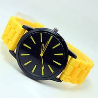 Женские часы Geneva quartz желтые, фото 1