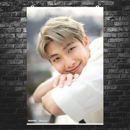 "Постер ""BTS. Kim Nam-joon (Ким Намджун)"", вариант №5. Bangtan Boys, k-pop. Размер 60x40см (A2). Глянцевая бумага, фото 2"