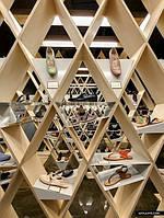 Дизайнерская мебель для магазина обуви, одежды, книг или вина