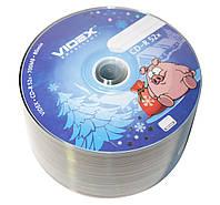 Диск CD-R 50 Videx Новый Год, 700Mb, 52x, Bulk Box