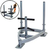 Сани тренировочные для кроссфита+петли Zelart SLED (металл, основание 90х90х70см, h-80см) PZ-CF6236
