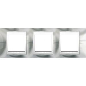 Рамка 3 пост. Unica Top хром блискучий/білий MGU66.006.810