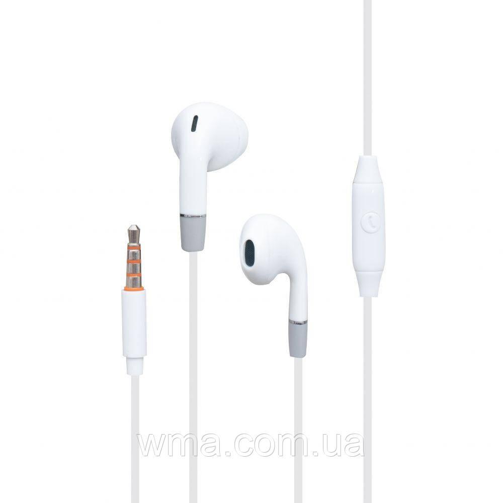 Проводные наушники для телефона Celebrat G8 Цвет Белый