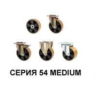 Большегрузные колеса из полиуретана серия 54 Medium