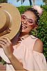 Легкий сарафан трапеция(цвет персик), фото 2