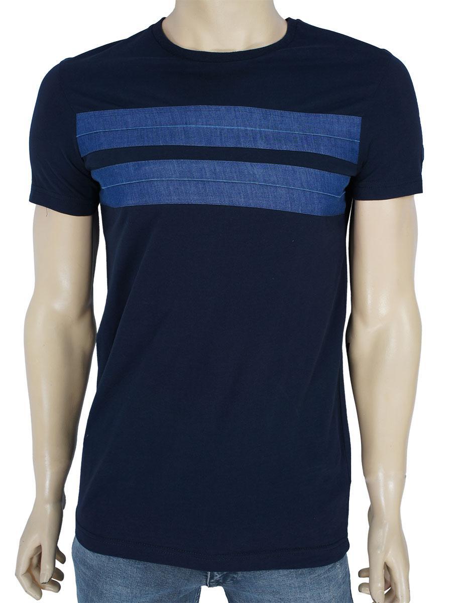 Стильная мужская темно-синяя футболка NCS 1184