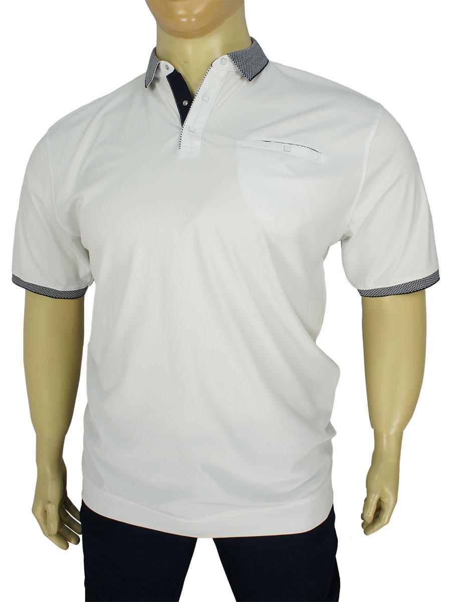 Белая мужская тенниска Better Life 843 B white больших размеров