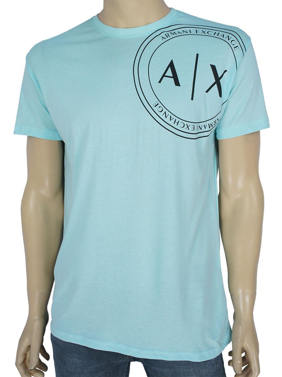 Чоловіча стильна футболка 0021 M.Yesili ментолового кольору