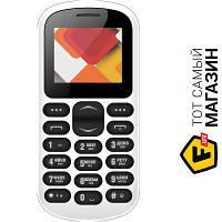 Nomi i187 Dual Sim Black мобильный телефон недорогие, для пожилых людей классический - белый