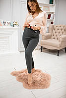 620101 Теплые лосины для беременных Серые ткань в рубчик, фото 1