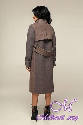 Женское прямое пальто весна осень (р. 44-54) арт. 12-32/3-13, фото 2