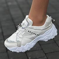 Кроссовки женские белые летние сетка (код 6531) - жіночі кросівки літні білі сітка