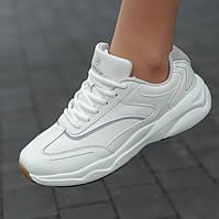 Женские кроссовки белые модные мягкие удобные ( код 6532 ) - жіночі кросівки білі зручні модні, фото 1