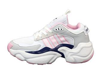 "Женские кроссовки Adidas Consortium x Naked Magmur Runner ""Pink/White/Grey"" (копия)"